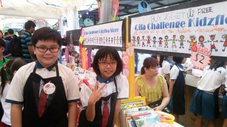 Our VIA monitor and ambassador who took part in KidzFlea for the second year.JPG